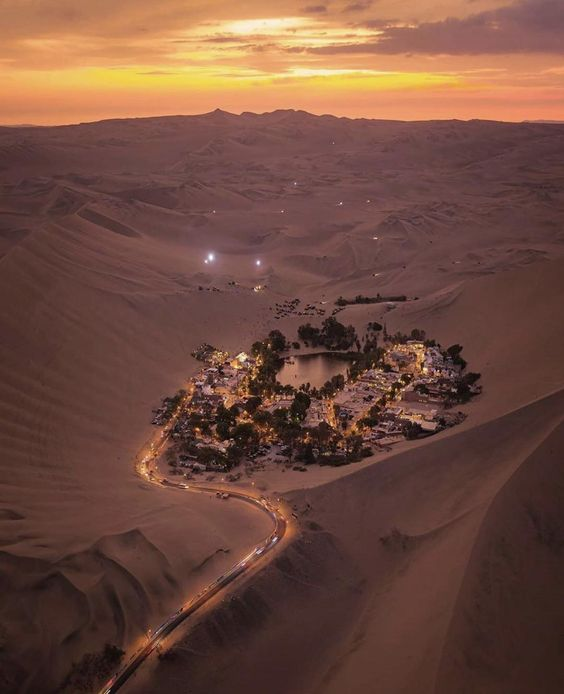 Huacachina Oasis - most gorgeous travel destinations around the world