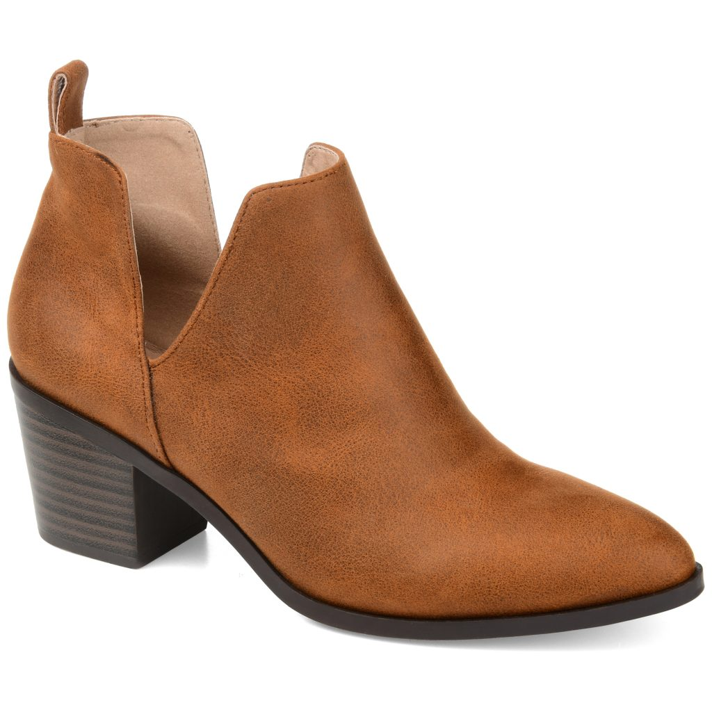 Brinley Co. Womens Deep Side V Classic Bootie