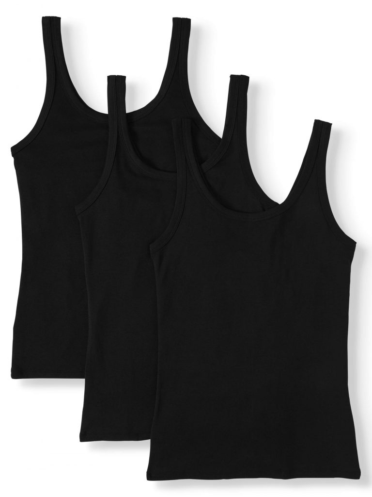 Time and Tru Layering Tank Top, 3 Pack Bundle