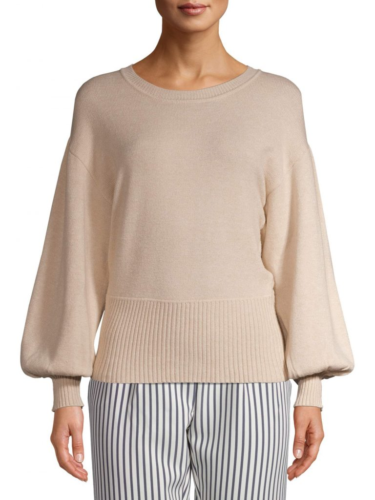 Time and Tru Women's Balloon Sleeve Pullover