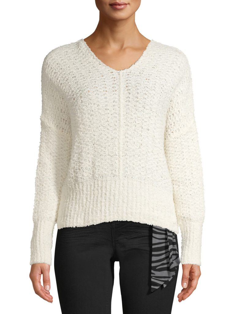 Time and Tru Tape Yarn Pullover Sweater