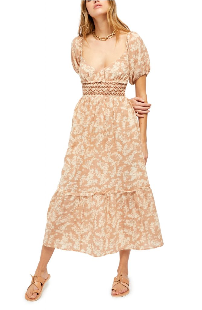 This image has an empty alt attribute; its file name is Ellie-Print-Smocked-Midi-Dress-668x1024.jpeg