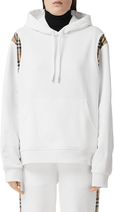 This image has an empty alt attribute; its file name is Fairhall-Check-Trim-Cotton-Hoodie.jpg
