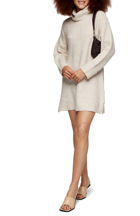 This image has an empty alt attribute; its file name is Funnel-Neck-Sweater-Dress.jpg