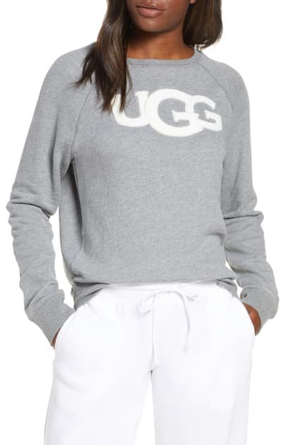 This image has an empty alt attribute; its file name is Fuzzy-Logo-Sweatshirt.jpeg