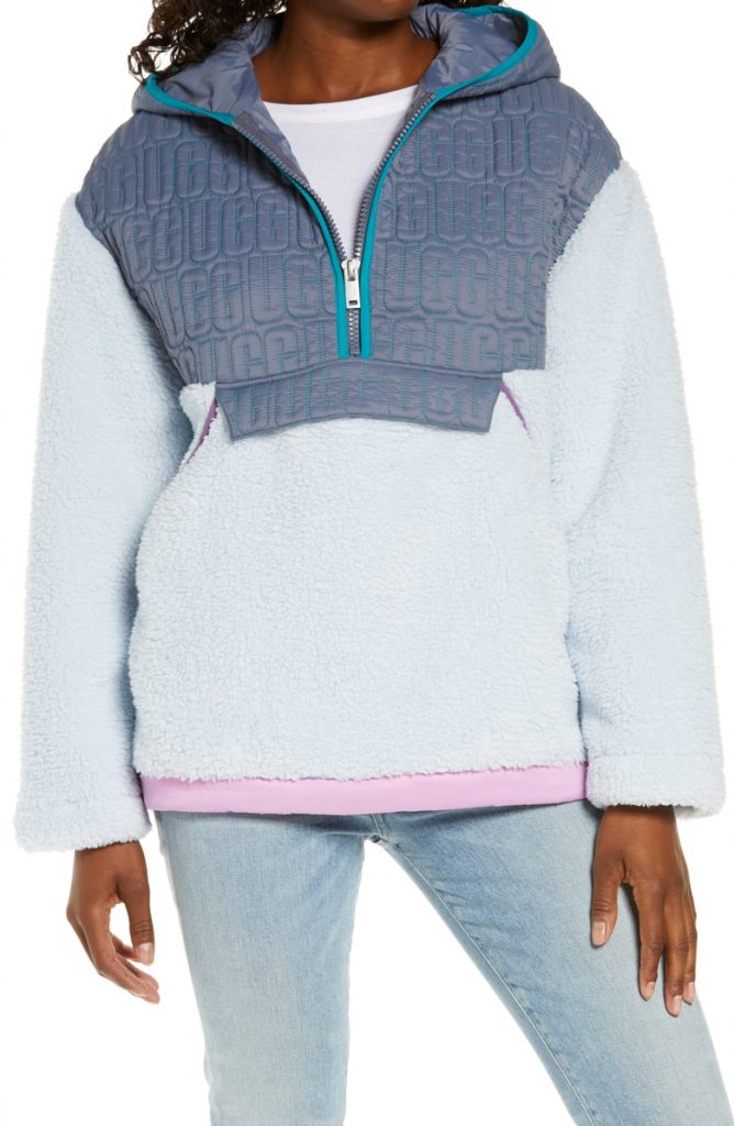 This image has an empty alt attribute; its file name is Iggy-Faux-Fur-Hooded-Half-Zip-Pullover-668x1024.jpeg