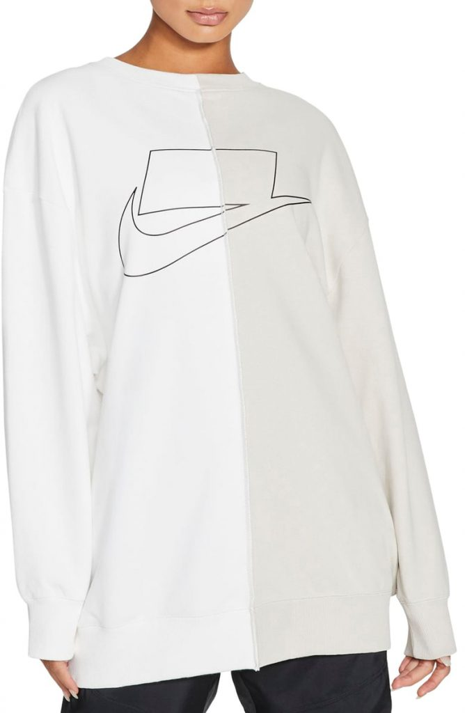 This image has an empty alt attribute; its file name is Swoosh-Graphic-Oversize-Split-Sweatshirt-668x1024.jpeg