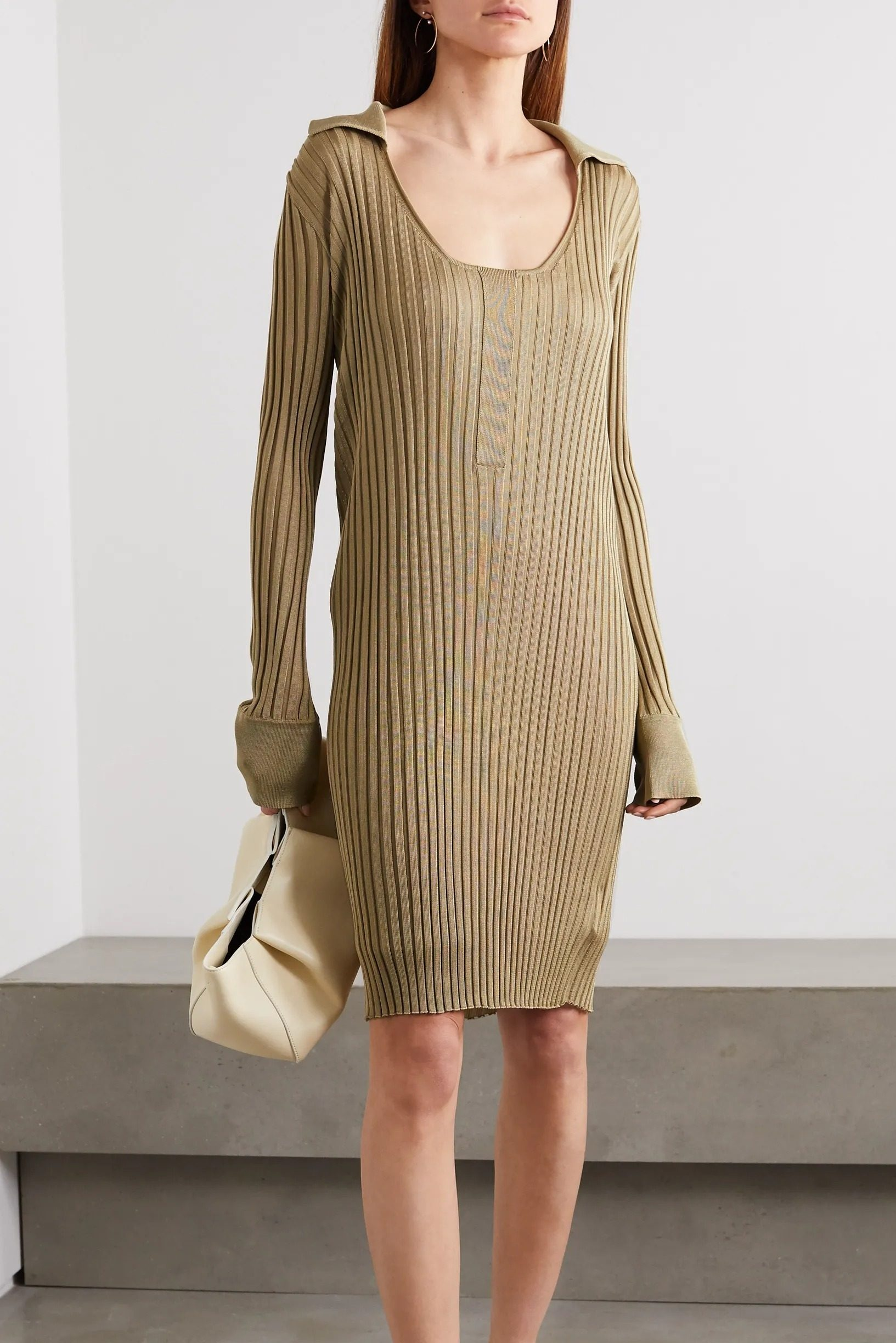 neutral knit dresses