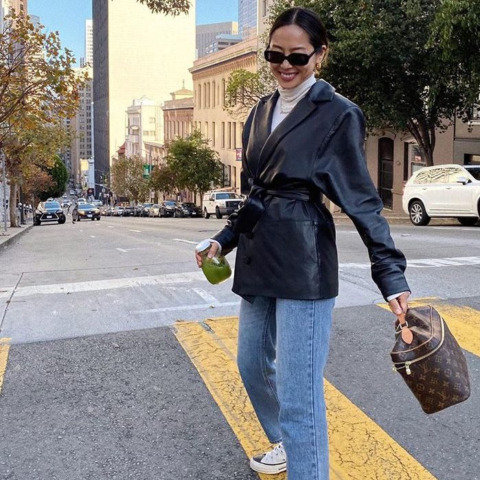 chic leather blazers