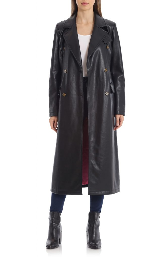 This image has an empty alt attribute; its file name is Double-Breasted-Faux-Leather-Trench-Coat-5-668x1024.jpeg