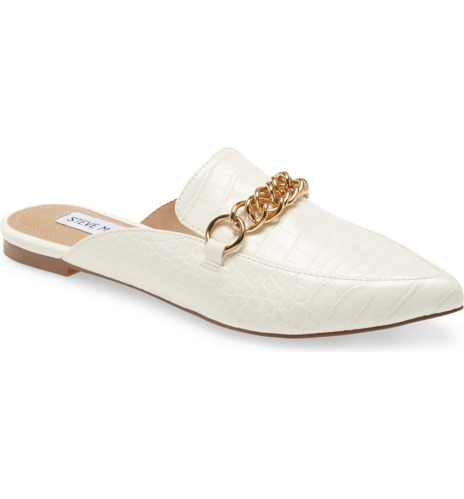 This image has an empty alt attribute; its file name is Forever-Chain-Pointed-Toe-Mule-953x1024.jpeg